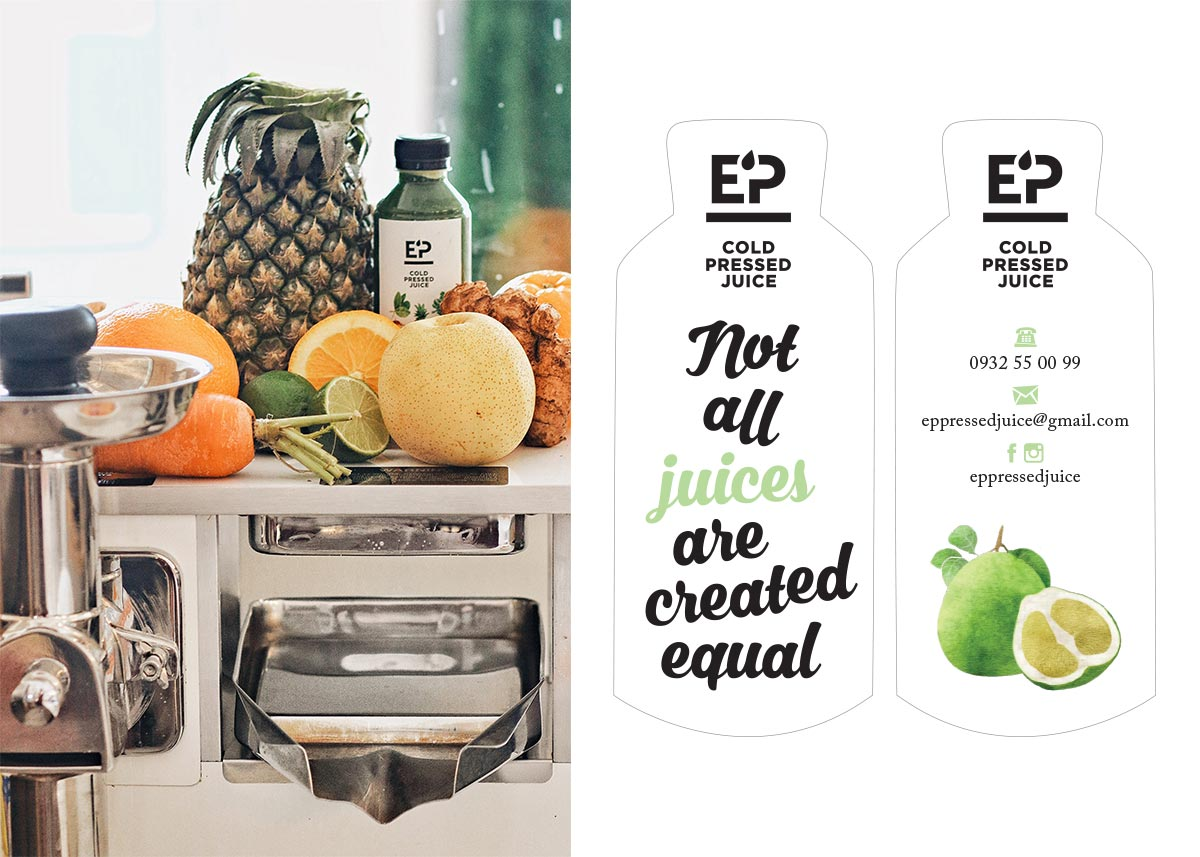 EP Pressed Juice business card