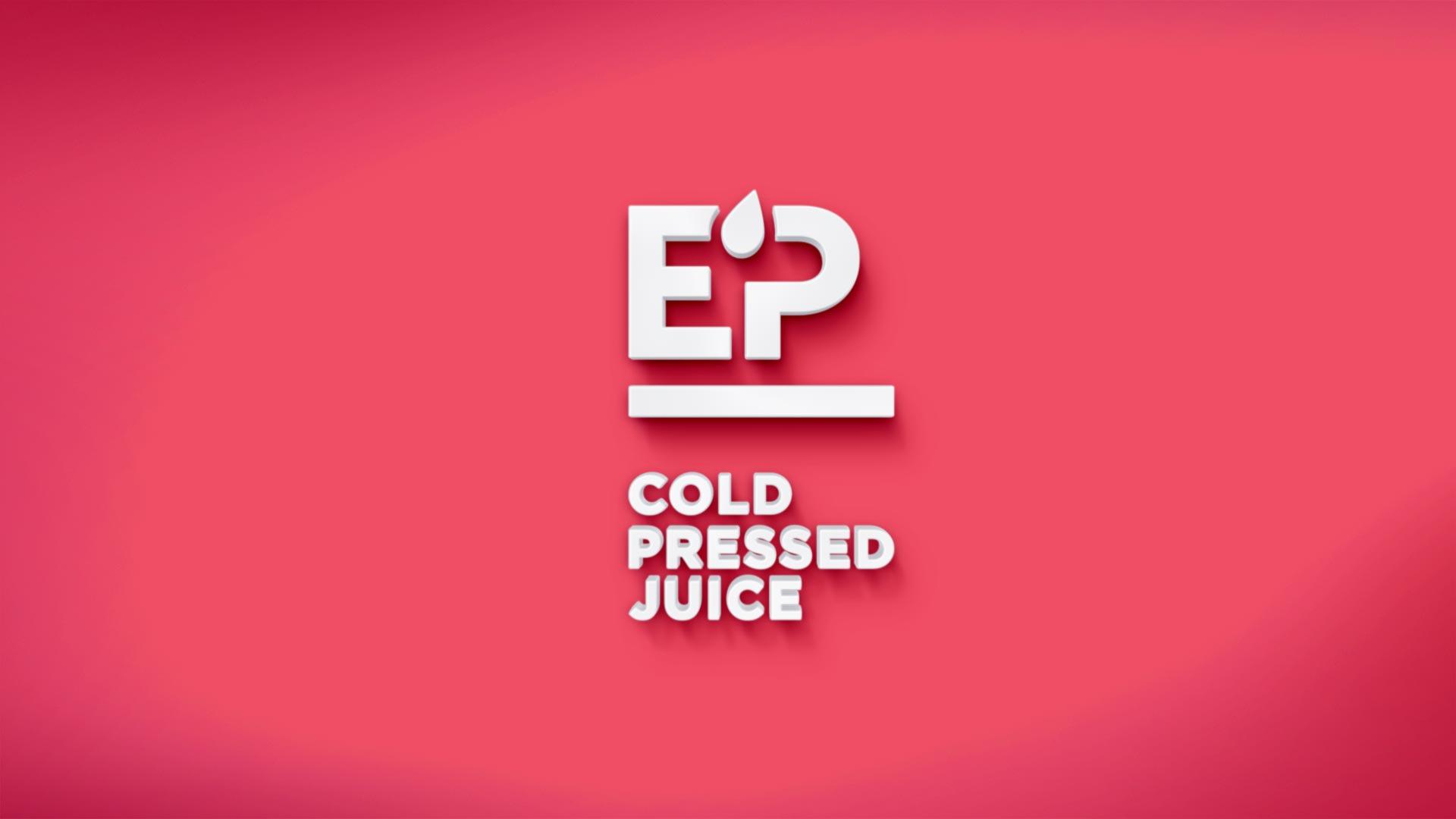 EP Pressed Juice logo 3D