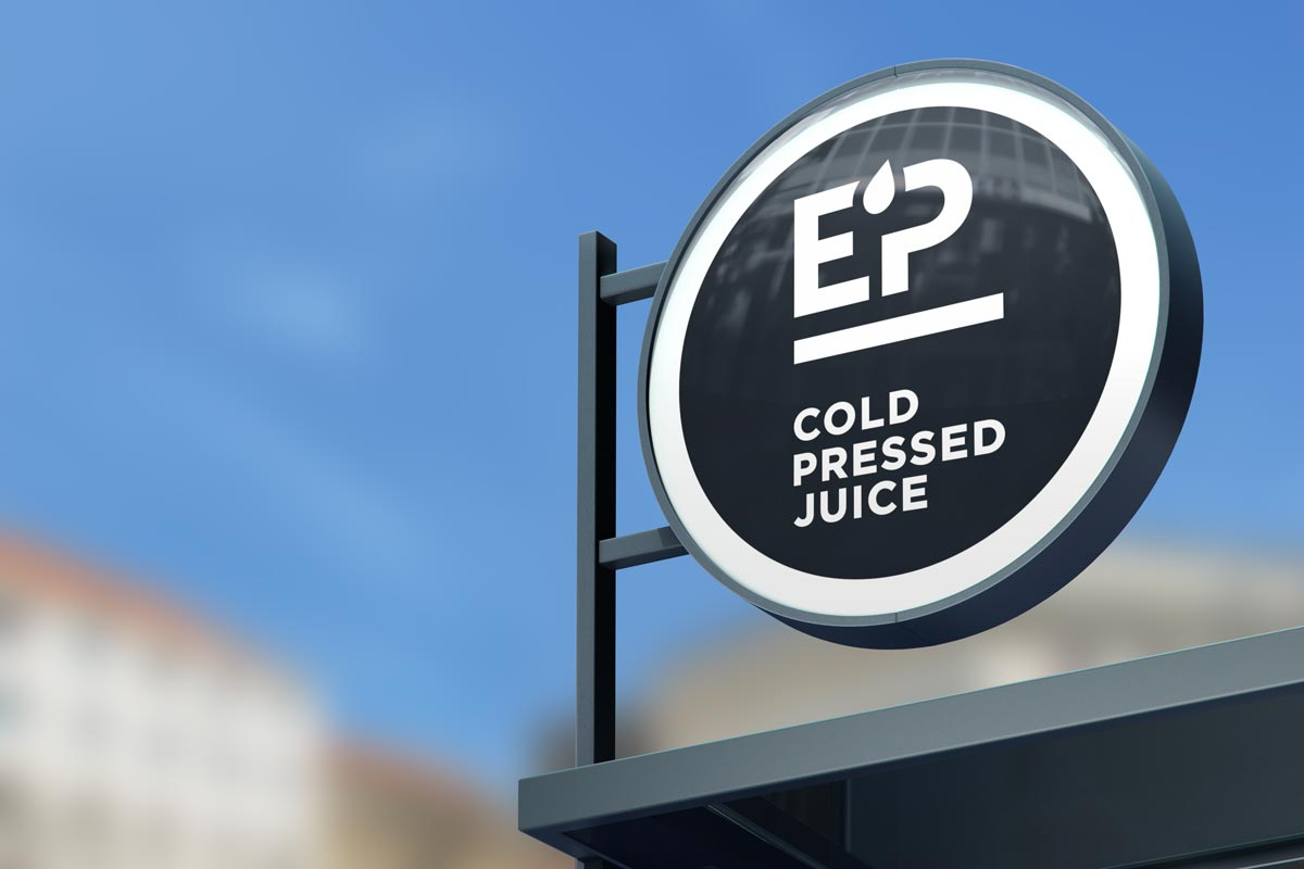 EP Pressed Juice sign